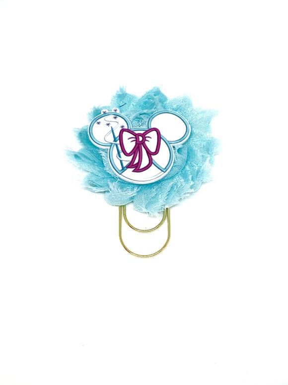 Fairy Godmother Flower Wide Paper Clip