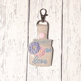 Love Mason Jar Key Fob