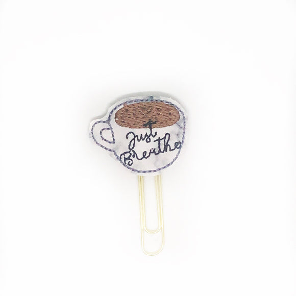 Just Breathe Cup Paper Clip