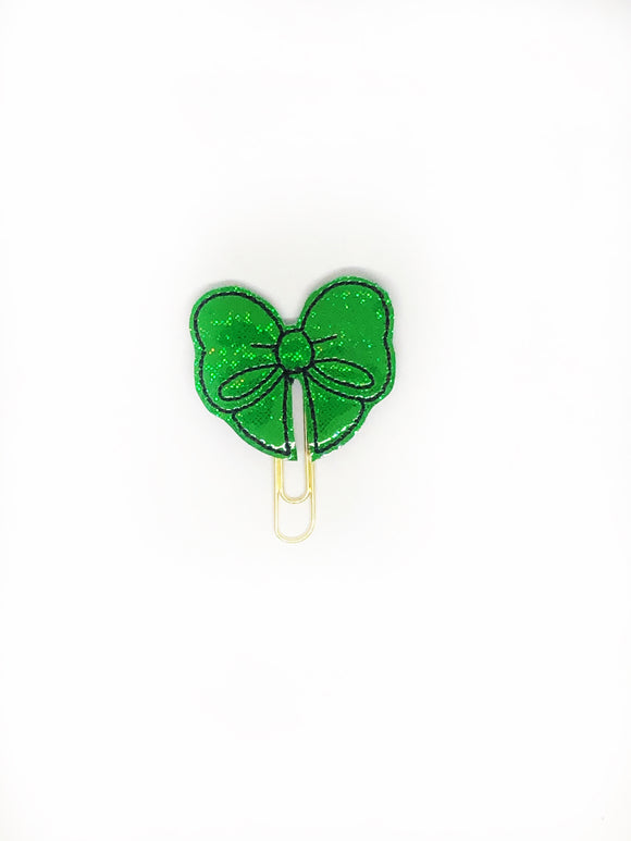 Green Bow Paper Clip