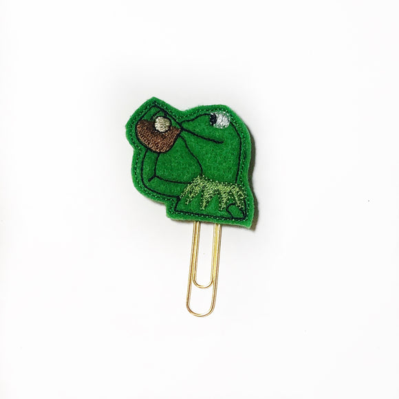 Tea Sipping Frog Paper Clip