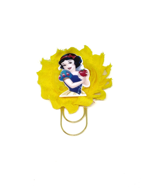 Snow Princess Flower Wide Paper Clip