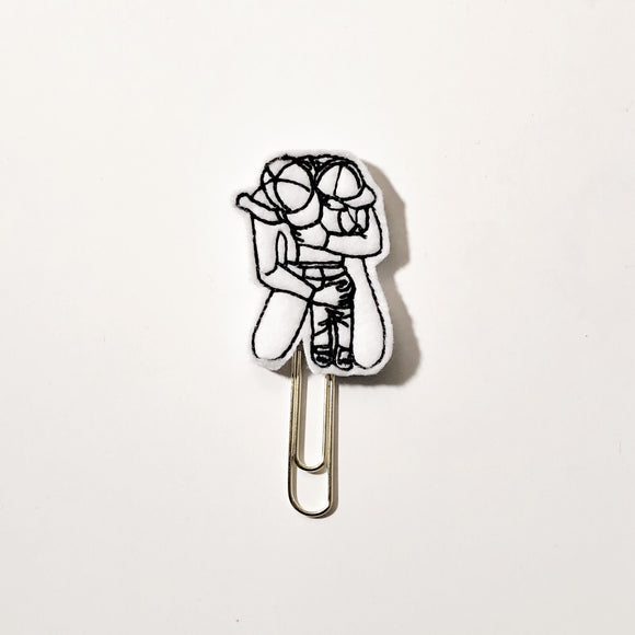 Dad and Son Paper Clip