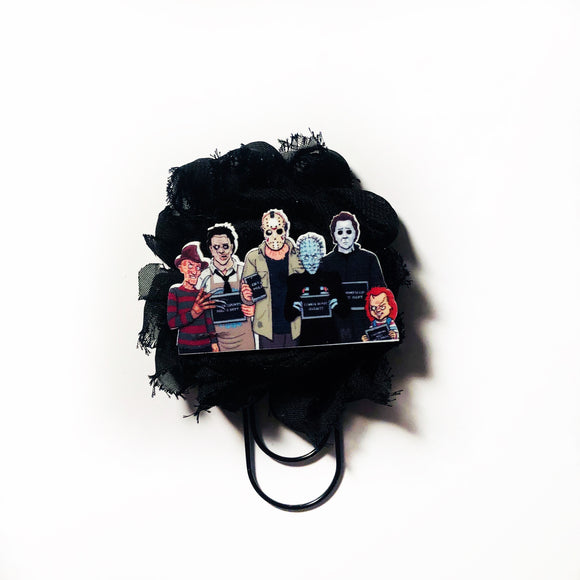 Horror Squad Line Up Shabby Flower Paper Clip