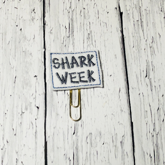 Shark Week Paper Clip