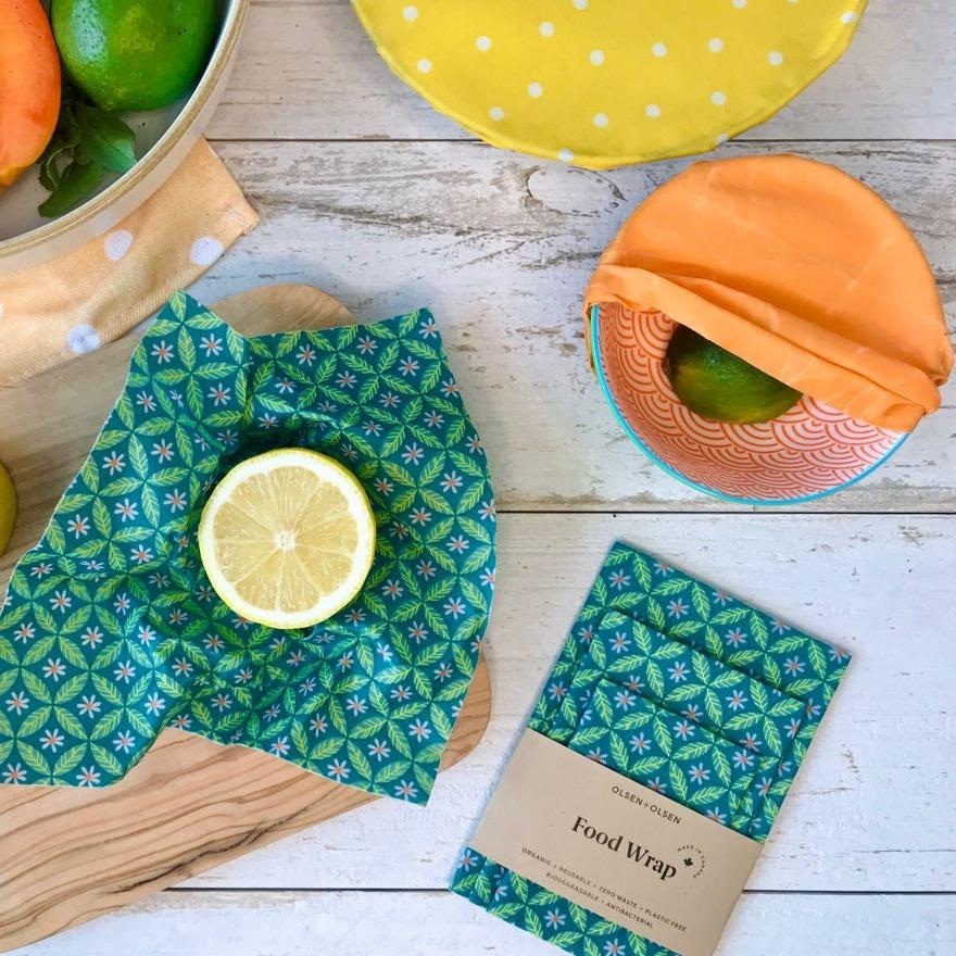 Beeswax Food Wraps Trio Pack l Organic & Compostable