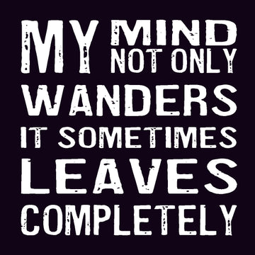 Bold Line Coaster & Magnet - My Mind Not Only Wanders*