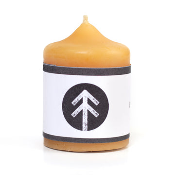 beeswax candle - all natural - handmade in canada