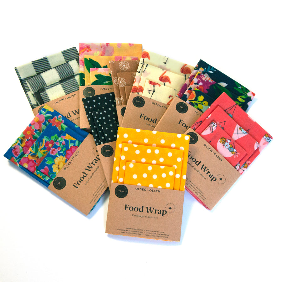 Beeswax Food Wraps Trio Pack | Organic & Compostable