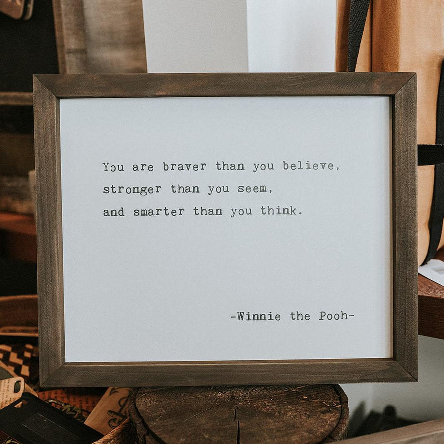 framed wall art you are braver