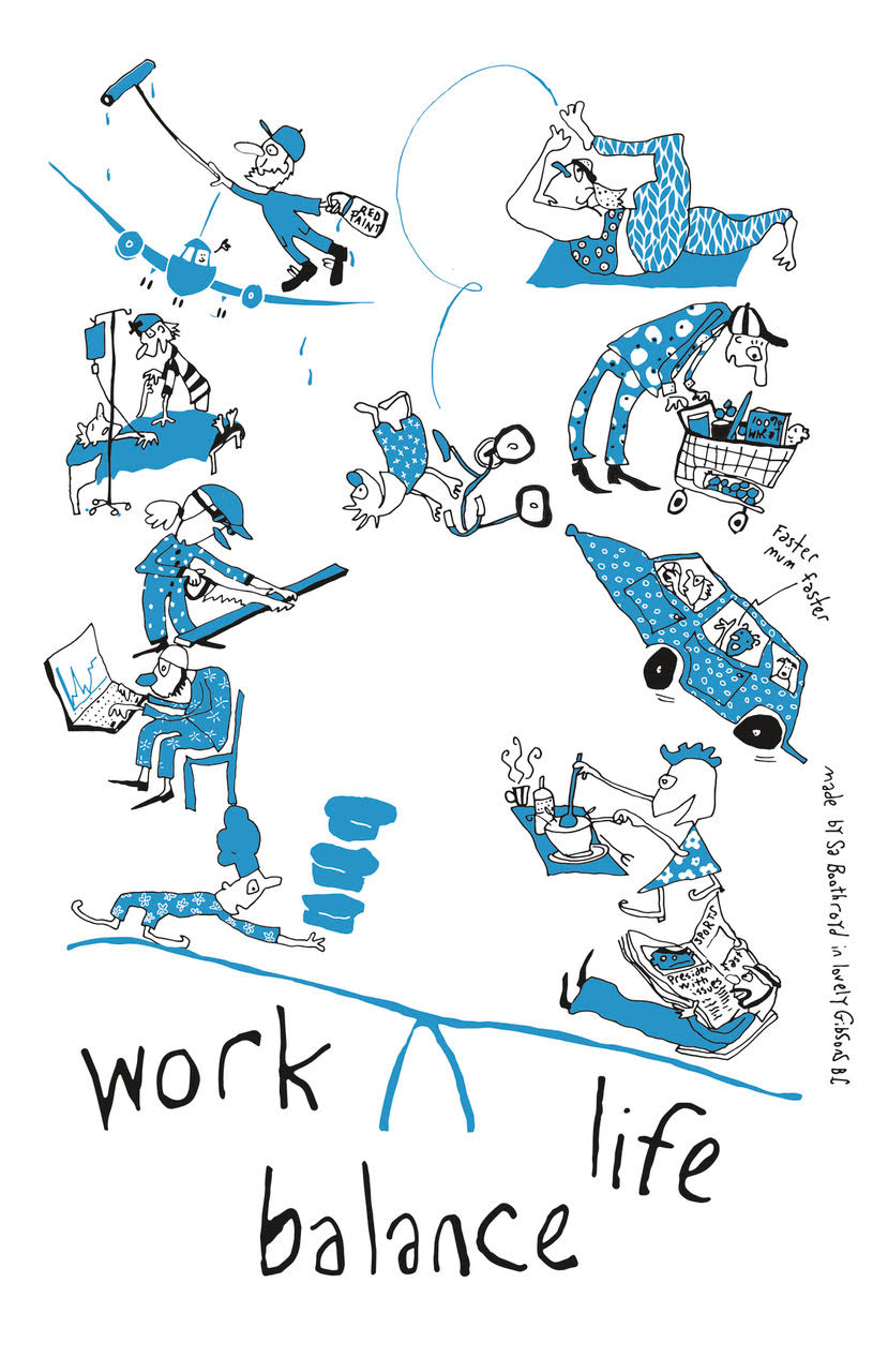 Cotton Tea Towel - Work Life Balance