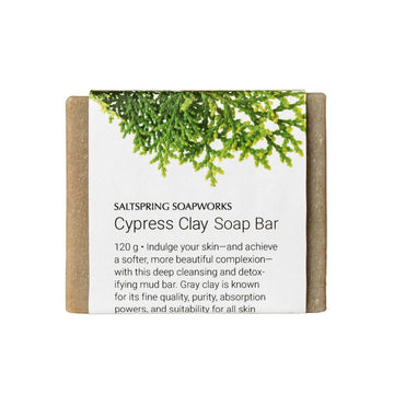 All-Natural Soap Bar - Cypress Clay