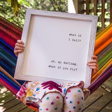 Framed Wall Art - What If I Fall