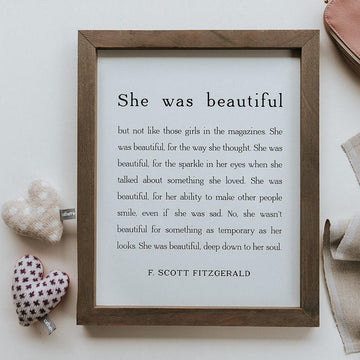Framed Wall Art - She Was Beautiful