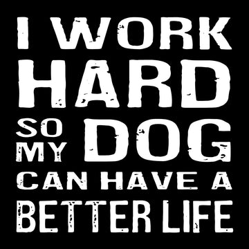 Bold Line Coaster & Magnet - I Work Hard Dog*