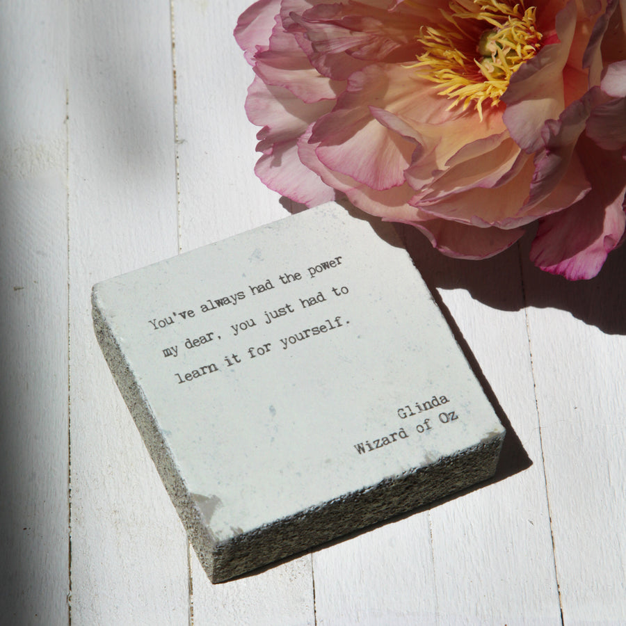 Wall & Shelf Home Decor - Handmade Inspirational Woodblock