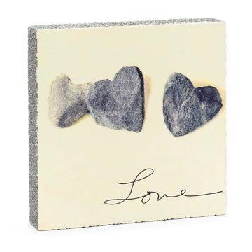 Lost + Found Art Block - Love Stones