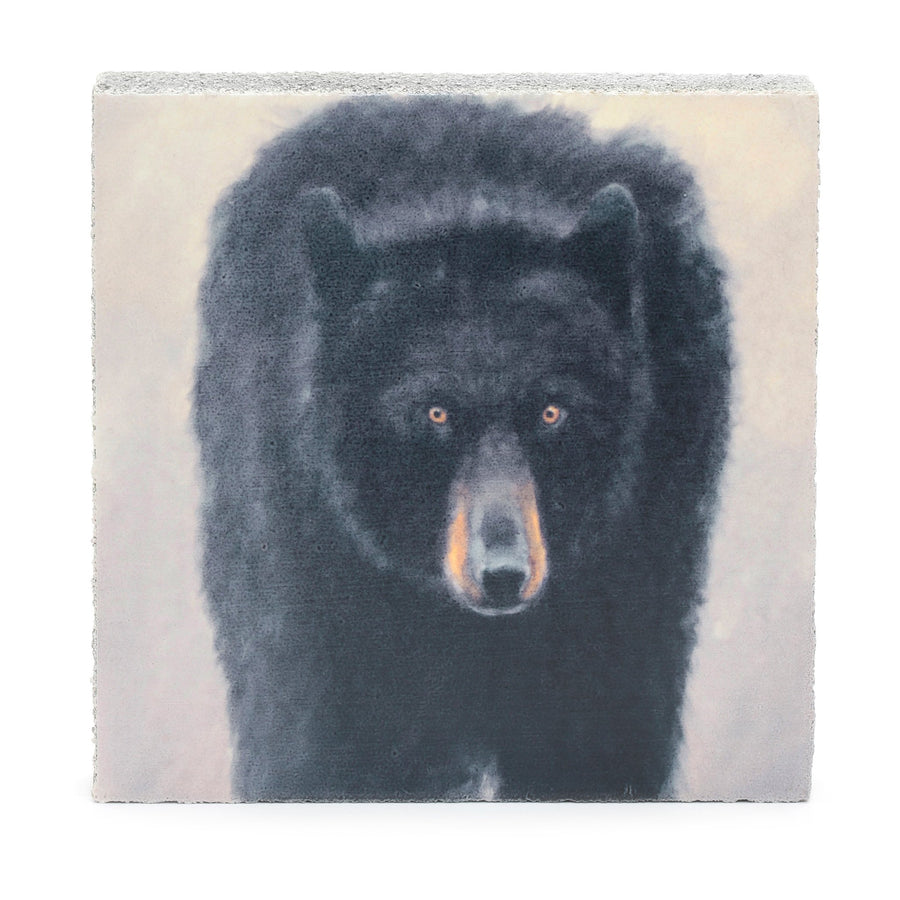 wood art block black bear vikki fuller