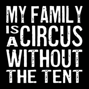 Bold Line Coaster & Magnet - My Family Is a Circus*