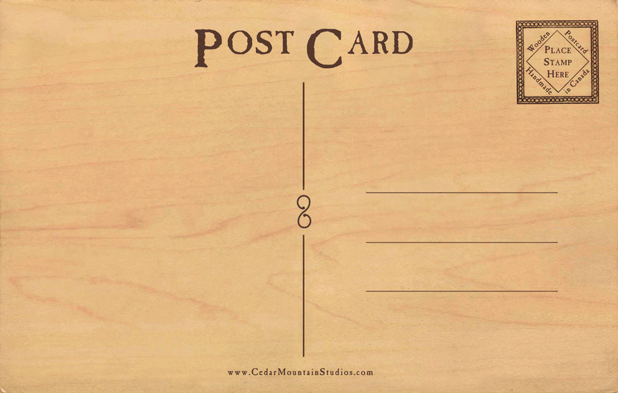 Purely Canadian Wood Postcard