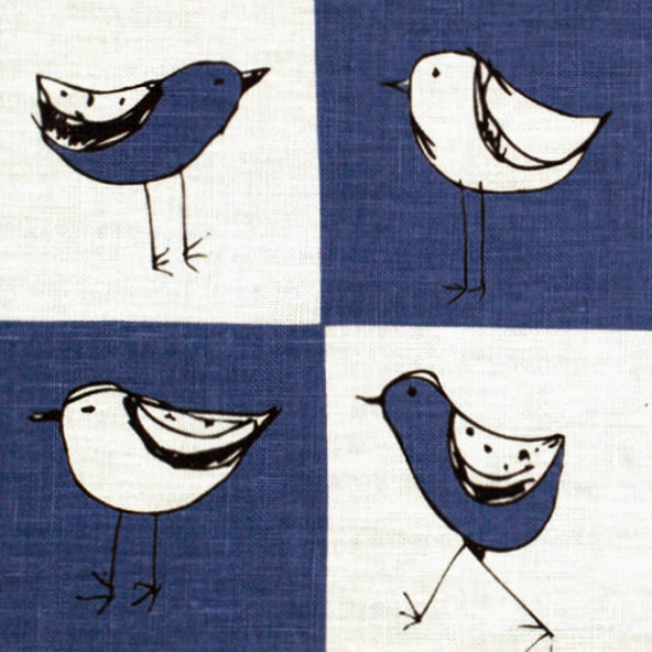 Check Bird Tea Towel