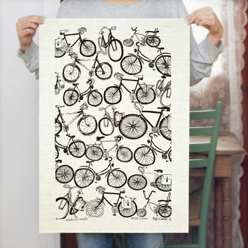 Tea Towel - Kitchen - 100% Linen - Hand Printed