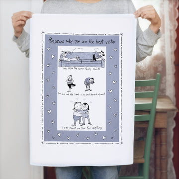 Tea Towel - Kitchen - 100% cotton - Hand Printed