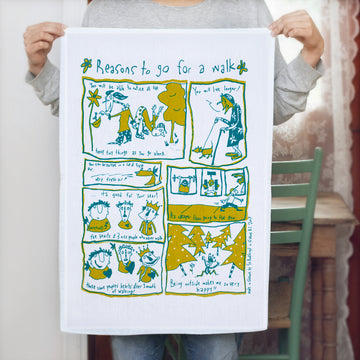 Reasons for Walk Tea Towel