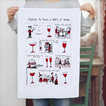 Reasons For Wine Tea Towel