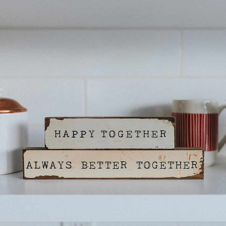 happy together timber bit art block