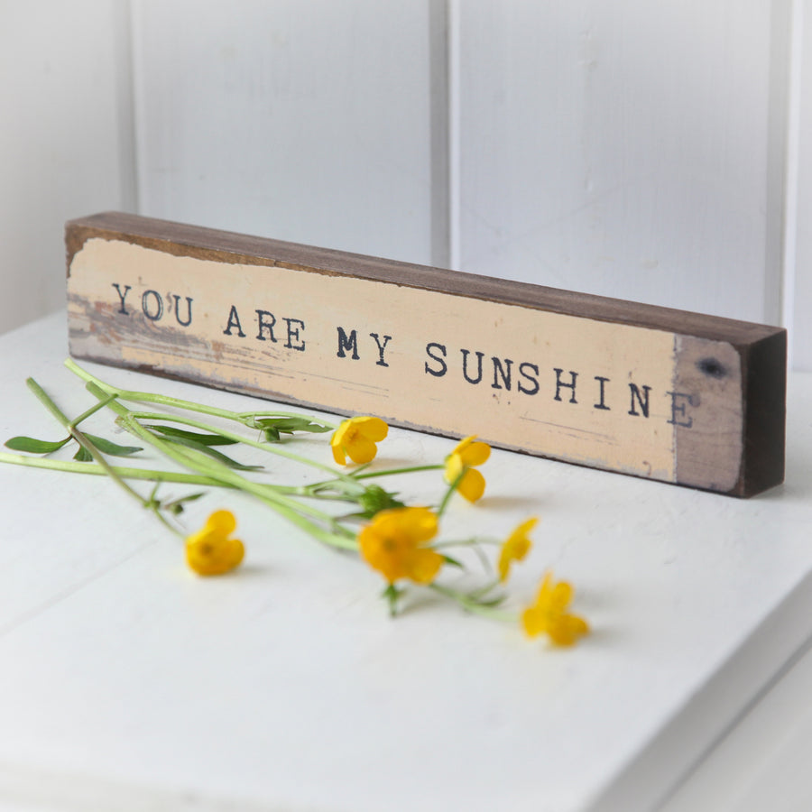 Timber Bit Art Block - You Are My Sunshine