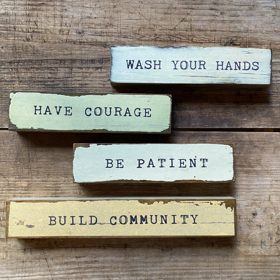 Shop Four Pack: Wash Hands, Have Courage, Be Patient, Community