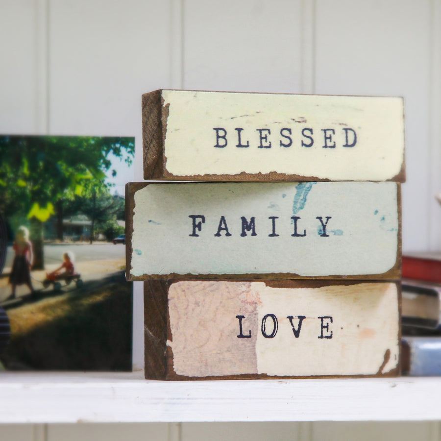 Timber Bits - Blessed, Family, Love