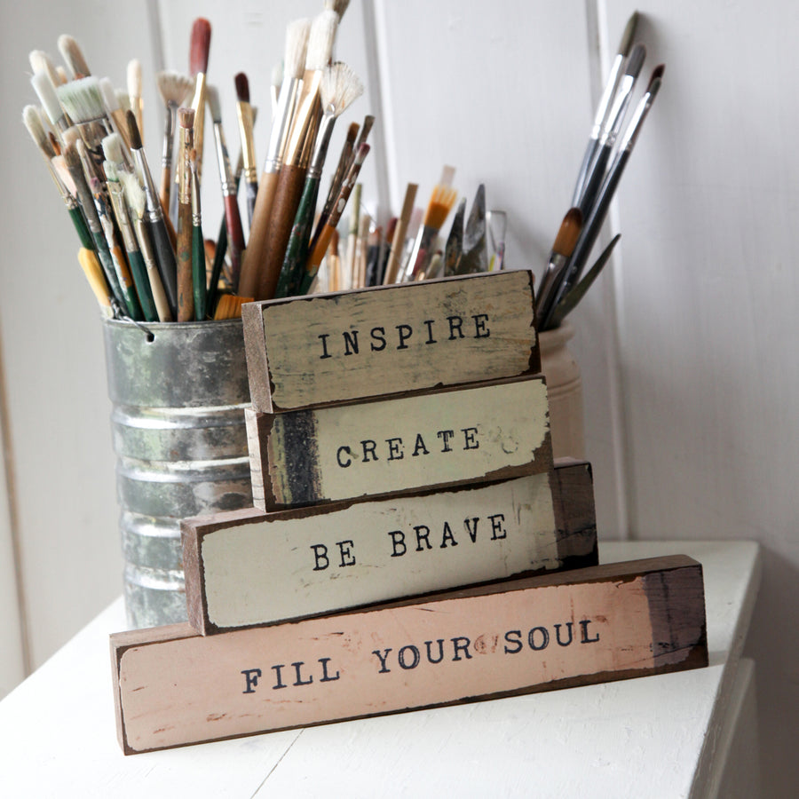 Timber Bits - Inspire. Create, Be Brave, Fill Your Soul
