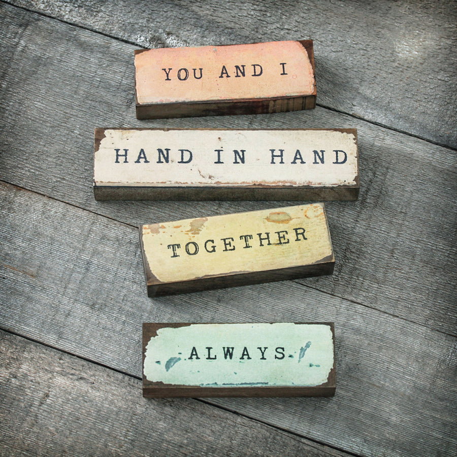 Hand in Hand - Medium Timber Bit home accents