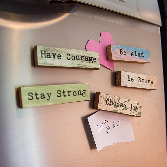 Stay Strong Five Pack - Timber Magnets