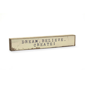 Inspirational Shelf Art - Handmade Cedar wood block