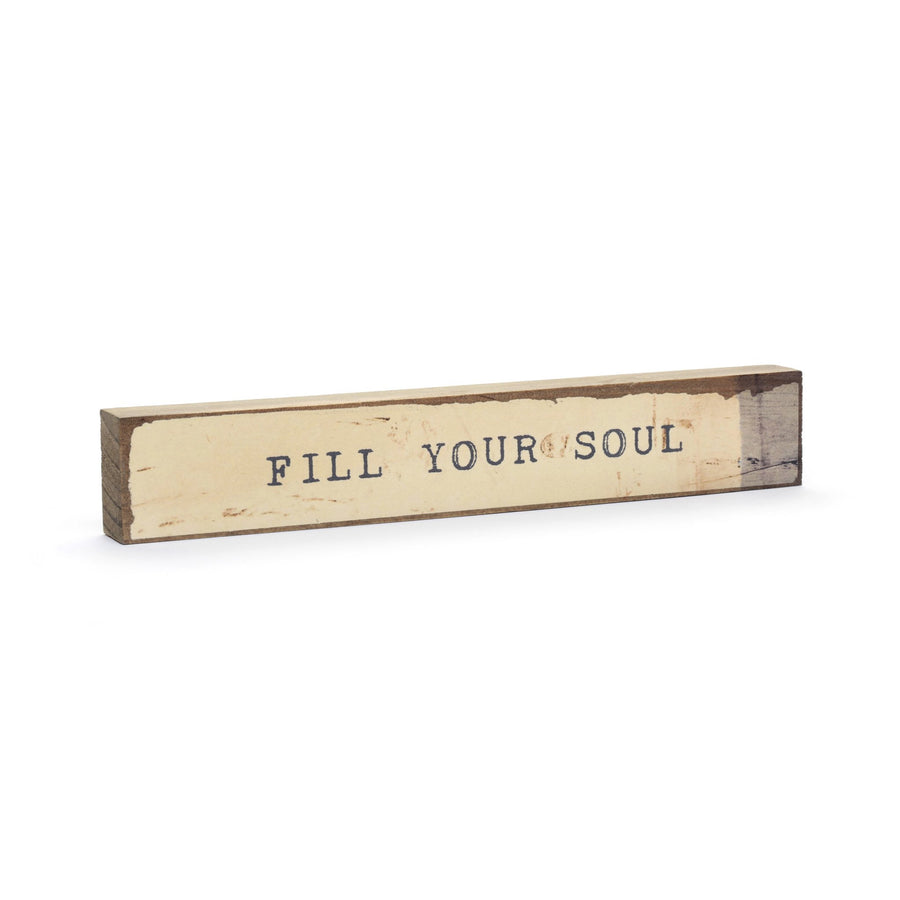 Inspirational Shelf Art | Handmade Cedar wood block
