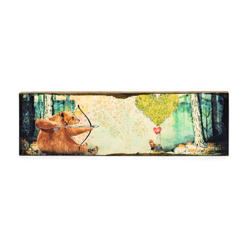 Timber Wall Art-Archery Bear