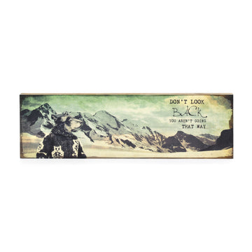 Timber Wall Art - Don't Look Back