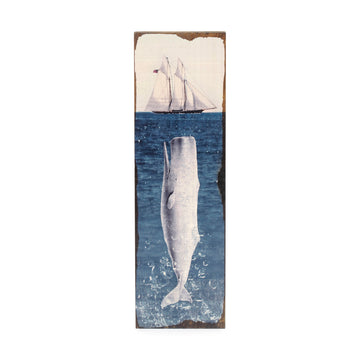 Timber Wall Art. - Moby Dick
