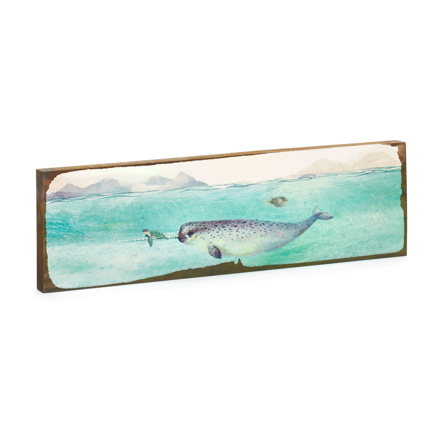 Timber Wall Art - Narwhal