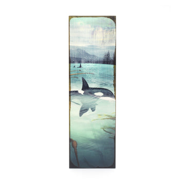 Timber Wall Art - Orca Spray
