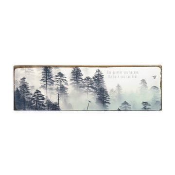 Home Decor -Wall Artwork -Cedar Wood Block- Handmade