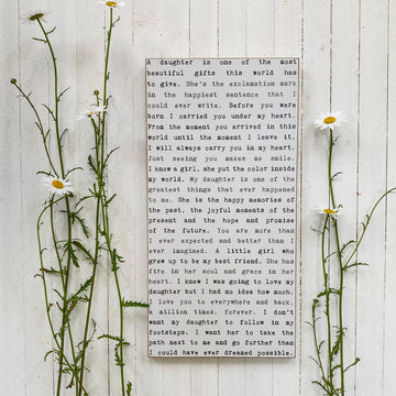 Daughter - Typewriter Wall Art