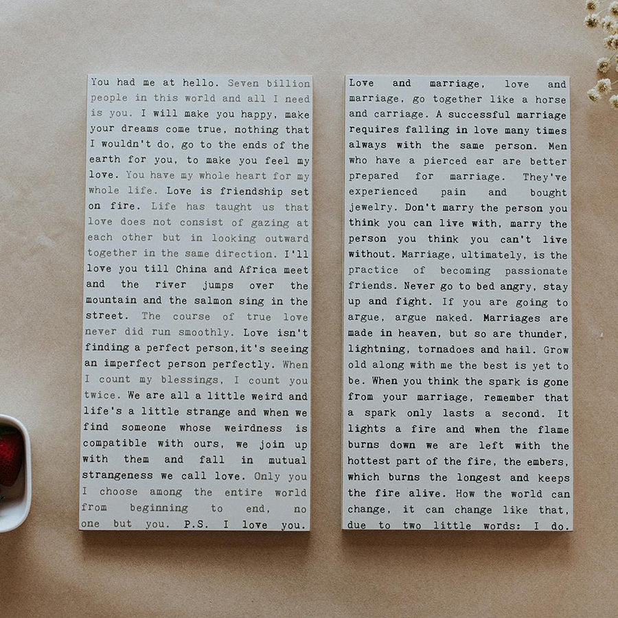 Marriage - Typewriter Wall Plaque