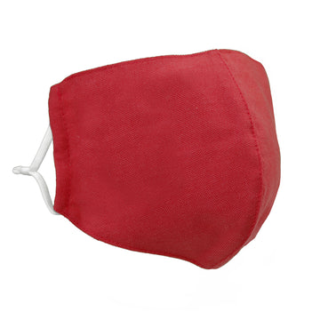 face mask linen light red