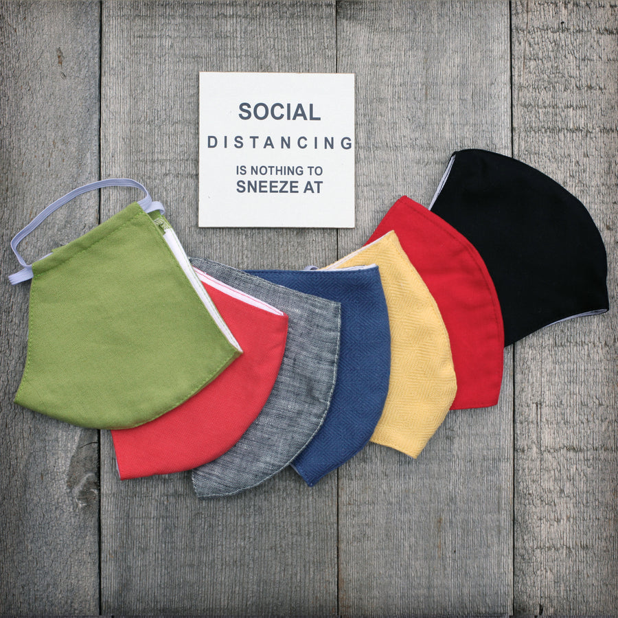 face masks-linen and cotton- bright colors