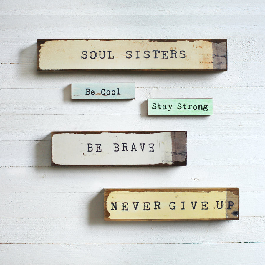 home decor - shelf or wall art - wood block - inspiration