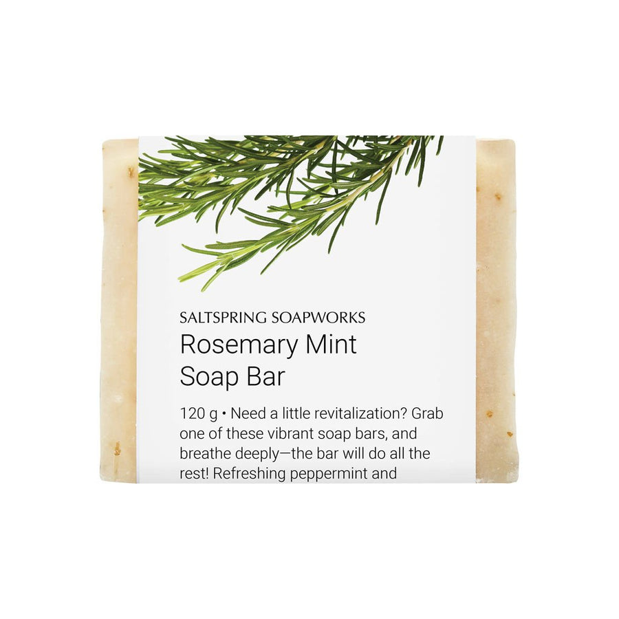 bar soap-all natural-handmade-saltspring soapworks-rosemary mint